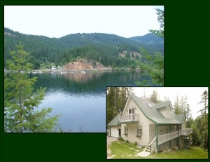 PRICE REDUCED Lake Coeur d���Alene Secondary Waterfront Home on 1 Acre with Boat Slip