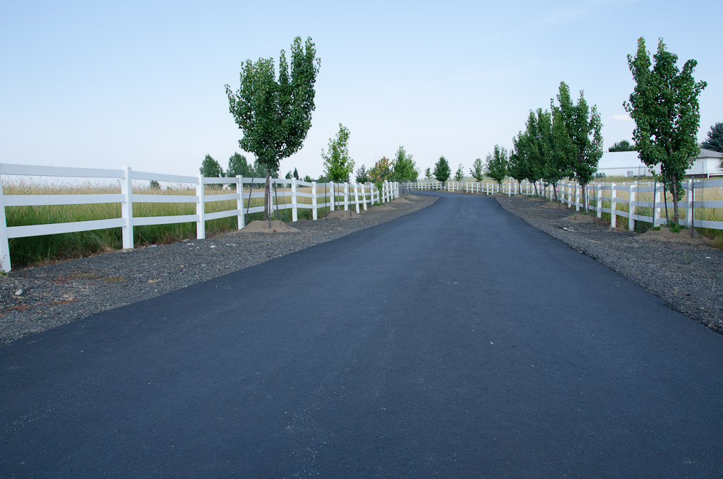 14 Paved & Fenced Driveway