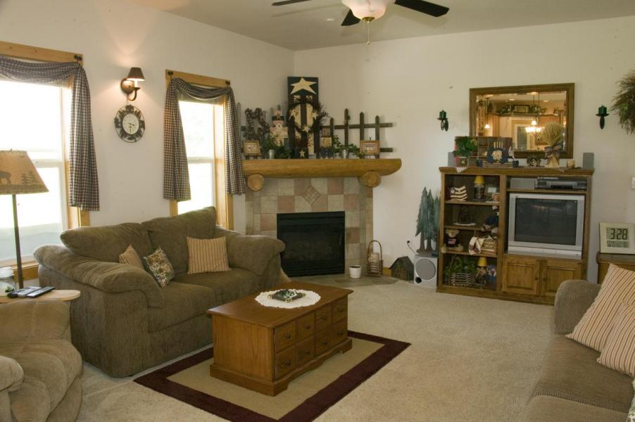 04 Family Room with Corner fireplace