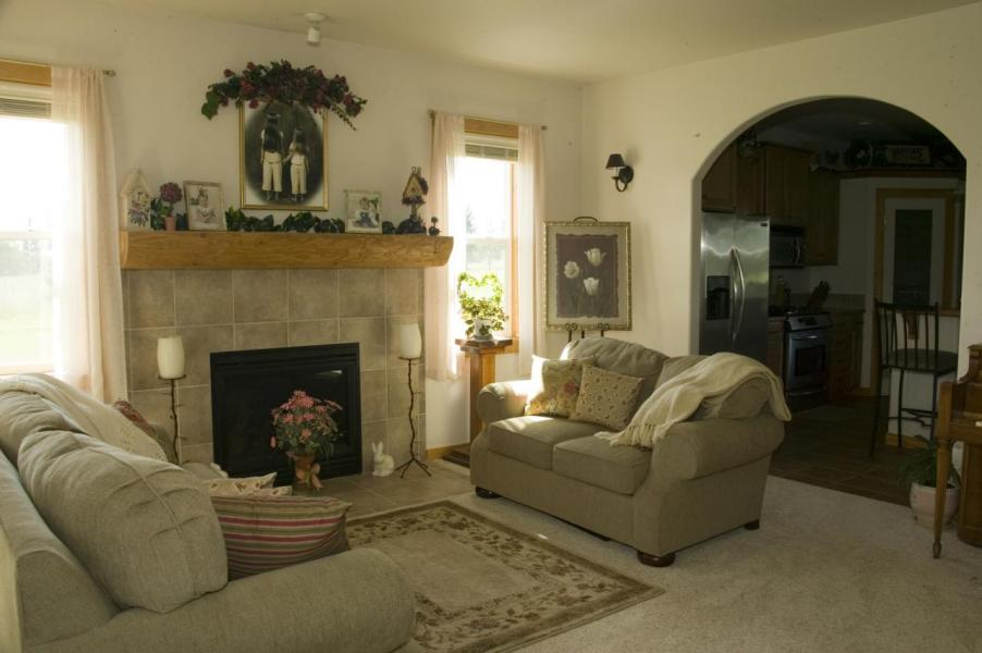 05 Living room with fireplace
